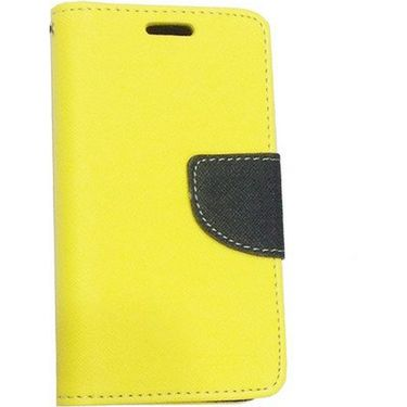 BMS lifestyle Mercury flip cover for Micromax A106 - Yellow
