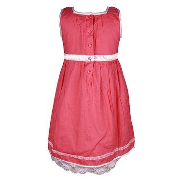 ShopperTree Sleeveless Pink Pleated Frock