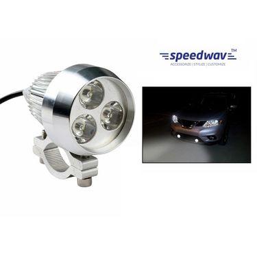 Speedwav 3 In 1 Spot Beam 6000k 35W 3 LED Light With Flasher-White