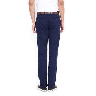 Good karma Cotton Lycra Chinos_pgc5005 - Navy Blue