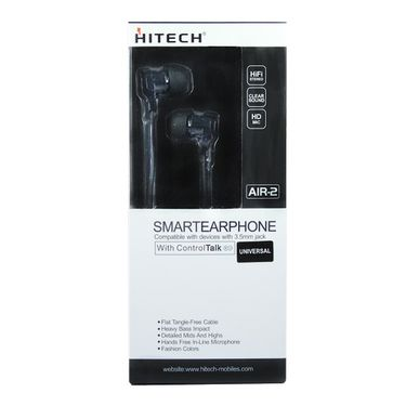 Hitech Air 2 Stereo Earphone - Black