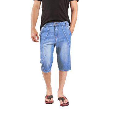 Uber Urban Cotton Shorts_15016mv - Light Blue