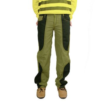 Uber Urban Cotton Trouser_4bndtrsolv - Olive & Black