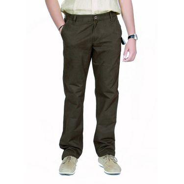 Uber Urban Cotton Trouser_tnp1422mgr - Olive Green