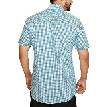 Sparrow Clothings Cotton Checks Shirt_wjc02 - Blue