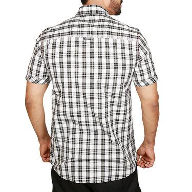 Sparrow Clothings Cotton Checks Shirt_wjc12 - Black