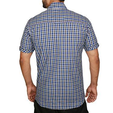 Sparrow Clothings Cotton Checks Shirt_wjc24 - Blue