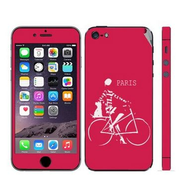 Snooky 28358 Digital Print Mobile Skin Sticker For Apple Iphone 5 - Pink