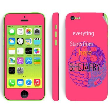 Snooky 28380 Digital Print Mobile Skin Sticker For Apple Iphone 5C - Pink