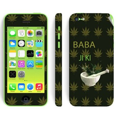 Snooky 28397 Digital Print Mobile Skin Sticker For Apple Iphone 5C - Green