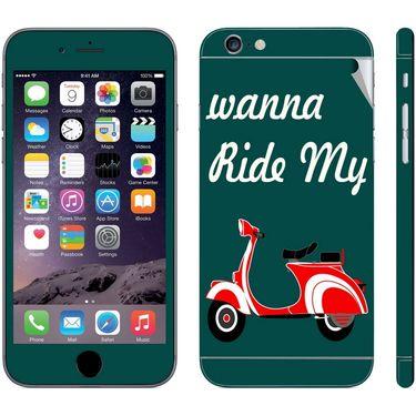 Snooky 28431 Digital Print Mobile Skin Sticker For Apple Iphone 6 Plus - Green