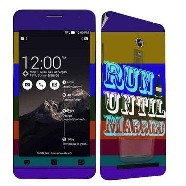 Snooky 27665 Digital Print Mobile Skin Sticker For Asus Zenfone 6 A600CG/A601CG - Multi