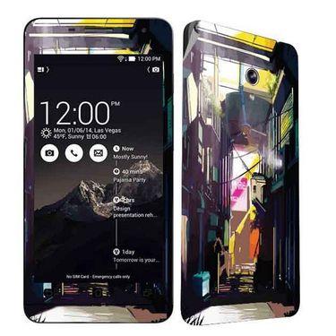 Snooky 27684 Digital Print Mobile Skin Sticker For Asus Zenfone 6 A600CG/A601CG - Multi