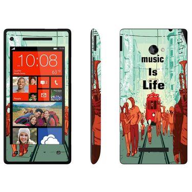 Snooky 28170 Digital Print Mobile Skin Sticker For HTC 8X C620E - Multi