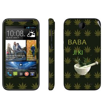 Snooky 27825 Digital Print Mobile Skin Sticker For HTC Desire 310 - Green