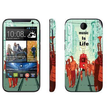 Snooky 27814 Digital Print Mobile Skin Sticker For HTC Desire 310 - Multi