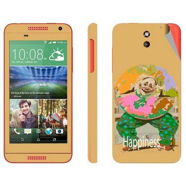 Snooky 28083 Digital Print Mobile Skin Sticker For HTC Desire 610 - Yellow