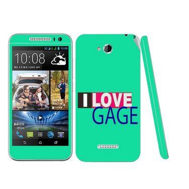 Snooky 28187 Digital Print Mobile Skin Sticker For HTC Desire 616 - Green