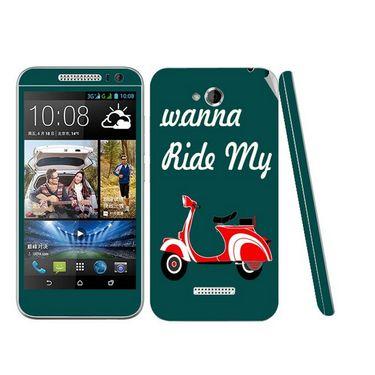 Snooky 28188 Digital Print Mobile Skin Sticker For HTC Desire 616 - Green