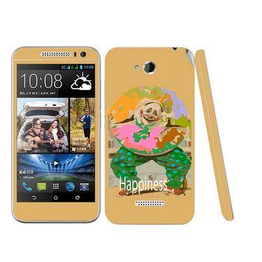 Snooky 28193 Digital Print Mobile Skin Sticker For HTC Desire 616 - Yellow
