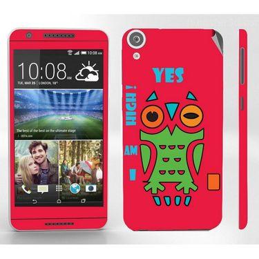 Snooky 28122 Digital Print Mobile Skin Sticker For HTC Desire 820 - Rose Pink