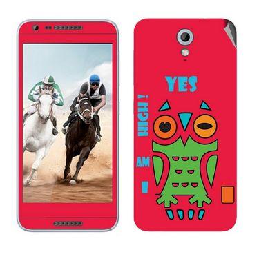 Snooky 28230 Digital Print Mobile Skin Sticker For HTC Desire 820 mini - Rose Pink