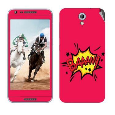 Snooky 28221 Digital Print Mobile Skin Sticker For HTC Desire 820 mini - Pink