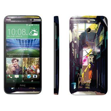 Snooky 28256 Digital Print Mobile Skin Sticker For HTC One E8 - Multi
