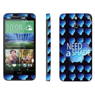 Snooky 28252 Digital Print Mobile Skin Sticker For HTC One E8 - Blue