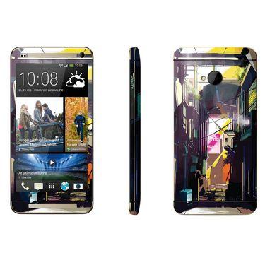 Snooky 28283 Digital Print Mobile Skin Sticker For HTC One M7 - Multi