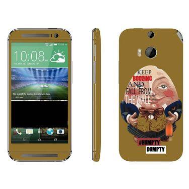 Snooky 28141 Digital Print Mobile Skin Sticker For HTC One M8 - Multi