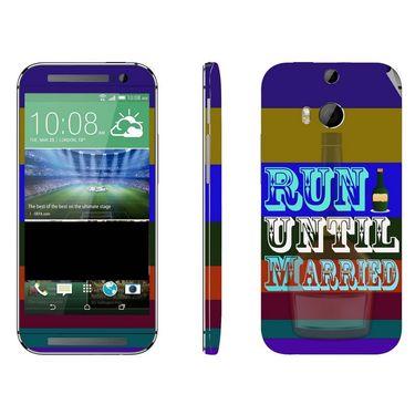 Snooky 28129 Digital Print Mobile Skin Sticker For HTC One M8 - Multi