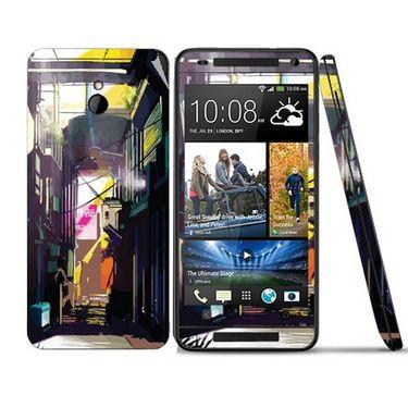 Snooky 28310 Digital Print Mobile Skin Sticker For HTC One mini - Multi