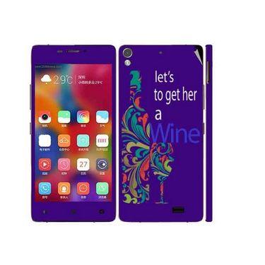 Snooky 27701 Digital Print Mobile Skin Sticker For Gionee Elife 5.1 - Purple
