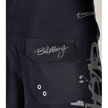 Billabong Poly Cotton  Printed Shorts_bysht4 - Navy Blue