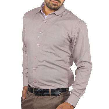 Fizzaro Plain Cotton Shirt_Plsrtc109 - Coffee