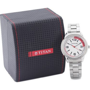 Titan Analog Round Dial Watch_1585sm01 - White
