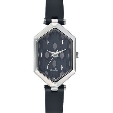 Titan Analog Hexagonal Dial Watch_2453sl01 - Black
