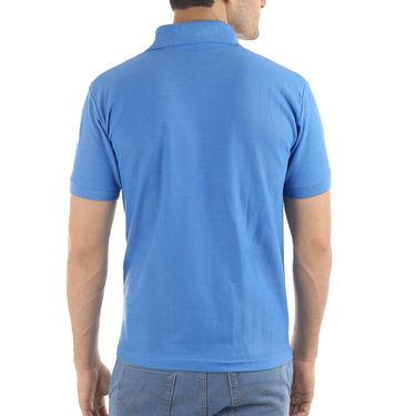 Branded Plain Half Sleeves Cotton T Shirt_Npdts1 - Blue