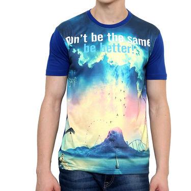 Combo of 2 Okane Half Sleeves T Shirts_Ts45351r52o - Blue & Orange