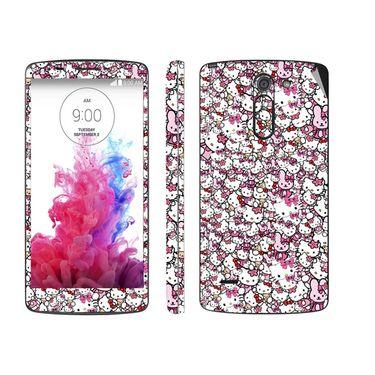 Snooky 38775 Digital Print Mobile Skin Sticker For Lg G3 Stylus - Pink