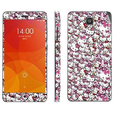 Snooky 38784 Digital Print Mobile Skin Sticker For Xiaomi Mi4 - Pink