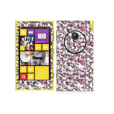 Snooky 38792 Digital Print Mobile Skin Sticker For Nokia Lumia 1020 - Pink