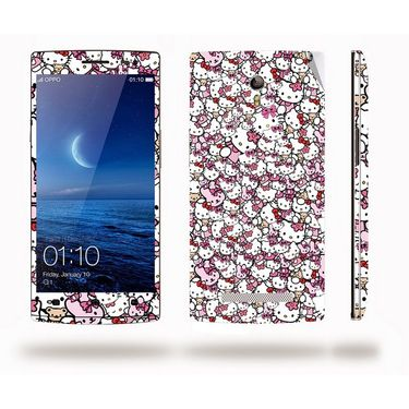 Snooky 38796 Digital Print Mobile Skin Sticker For Oppo Find 7 - Pink