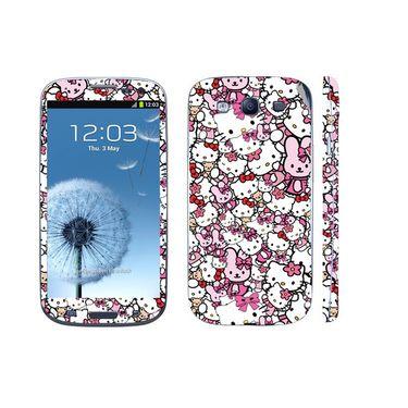 Snooky 38812 Digital Print Mobile Skin Sticker For Samsung Galaxy S3 GT-I9300 - Pink