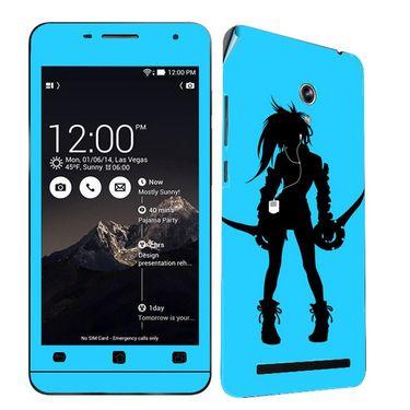 Snooky 38854 Digital Print Mobile Skin Sticker For Asus Zenfone 6 A600CG/A601CG - Blue
