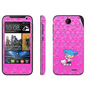 Snooky 38919 Digital Print Mobile Skin Sticker For HTC Desire 310 - Pink
