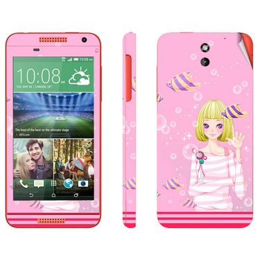 Snooky 38928 Digital Print Mobile Skin Sticker For HTC Desire 610 - Pink