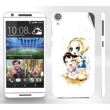 Snooky 38941 Digital Print Mobile Skin Sticker For HTC Desire 820 - White