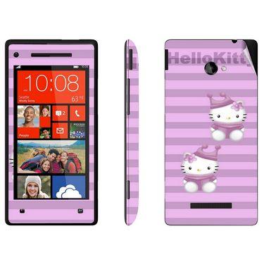 Snooky 38959 Digital Print Mobile Skin Sticker For HTC 8X - Purple